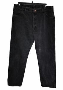 Rustler Mens Denim Black Jeans Straight Leg Size 42X32