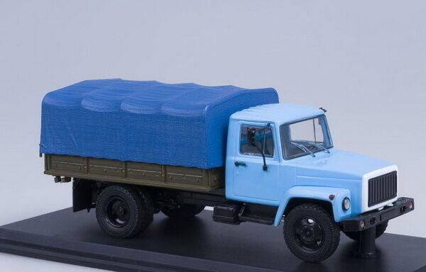 GAZ 33073 cargo taxi tent Blau  SSM1152 1 43
