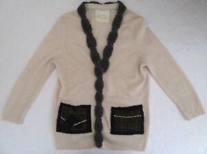 Wendi Reed 100 Cashmere Cardigan Sweater M Plaid Pockets Rare Ebay