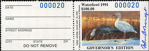MISSOURI-13GH-1991-HAND-SIGNED-GOVERNOR-STAMP-ONLY-100-MADE-20-John-Ashcraft