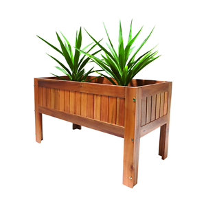 Acacia Hardwood Timber Wood Outdoor Raised Planter Box Garden Bed Ebay