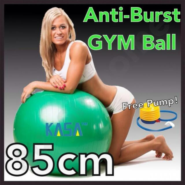 85cm Green Swiss Ball ideal for all Exercise Pilates Yoga for Home