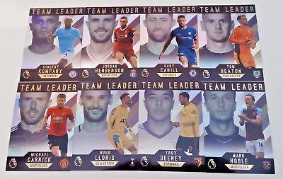 Topps Premier League GOLD Soccer 2017//18 Base /& insert card set 200 cartes