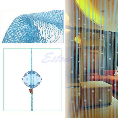 Fashion String Curtain Beads Panel Fringe Room Door Window Divider Blind Panel