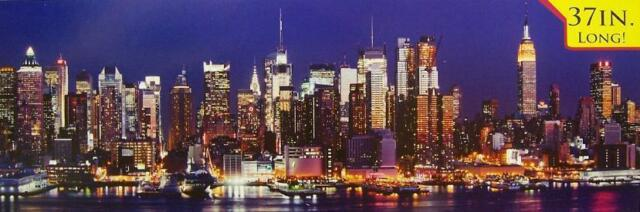 Jigsaw puzzle Explore America Manhattan Night Skyline NEW 750 piece