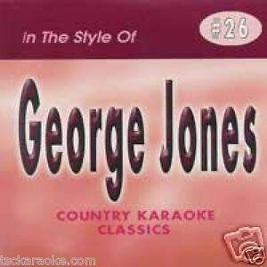 GEORGE-JONES-Country-Karaoke-CD-CDG-15-Songs-HE-STOPPED-LOVING-HER-TODAY