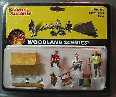 O scale CAMPERS Woodland Scenics Train People  # 2754