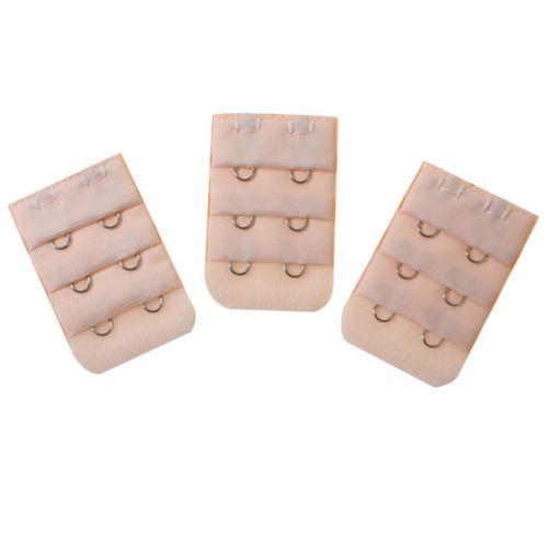3 x Ladies Bra Extender 2 Hook Bra Extension Strap Underwear Strapless