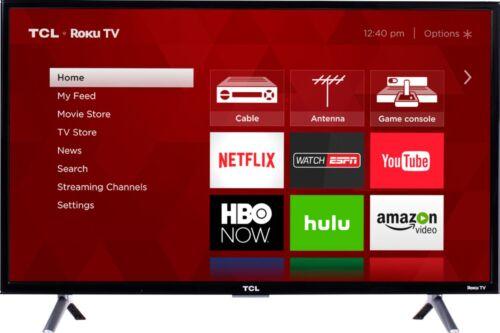 "TCL 32/"" Class Smart HDTV Roku TV 31.5/"" Diag. - LED 3-Series 720p"