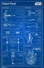STAR WARS - REBEL FLEET BLUEPRINTS POSTER - 22x34 MOVIES 14490