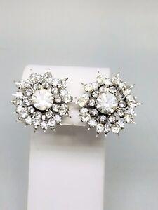 Coro-Vintage-Rhinestone-Screw-In-Signed-Earrings