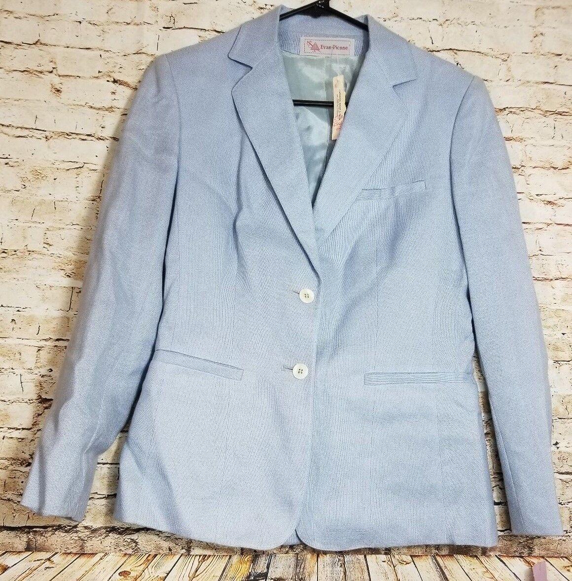 NWT Vintage Evan Picone Women's Dress Blazer Size 8 Baby Baby Baby bluee MSRP  110 f7b897