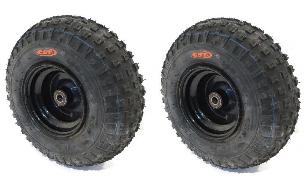 (2) KNOBBY  TIRES 145X70-6 145 70-6 ATV Go Cart Kart Mini Bike 50 90 110cc Engine  deals sale