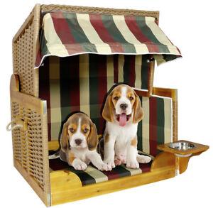 Luxus Hundestrandkorb Hundehutte Dreifarbig Hundebett Hundehohle Ebay