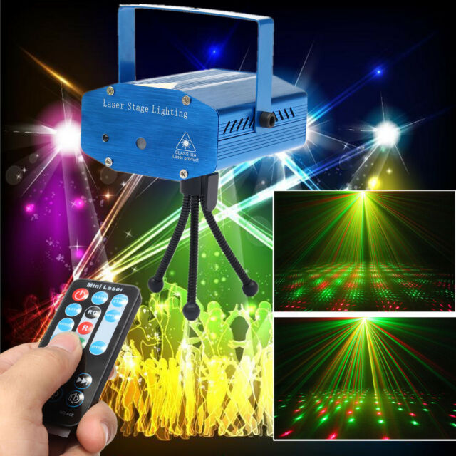 Mini R&G Auto/Voice Xmas DJ Disco Party LED Laser Stage Light Projector +Remote