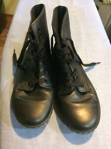 Details about Dr. Martens Leyton Boot Smooth Leather Size 5 US L Black
