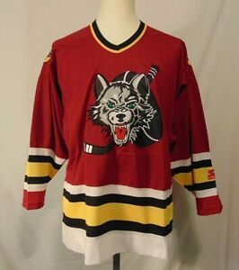 Chicago-Wolves-IHL-Hockey-Jersey-Sewn-Vintage-1994-Mens-M-Starter-Minor-League