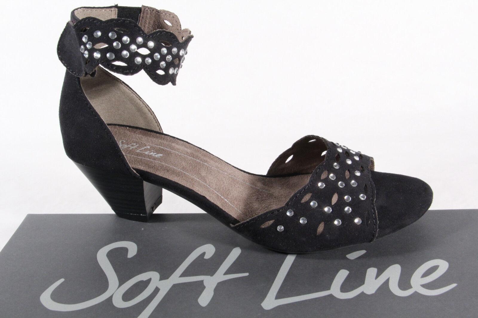 Soft Line Femmes Sandalettes Noir Neuf
