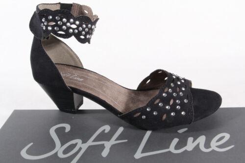 Sandali Nero Donna Soft Nuovo Line qwZMEY0