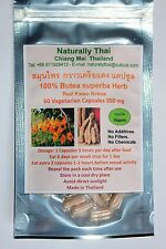Organic Butea superba - Red Kwao Krua - 350mg x 60 Veg Capsules Sexual Health