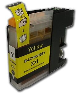 compatible l 103 lc101 yellow ink for brother mfc j4310dw. Black Bedroom Furniture Sets. Home Design Ideas