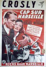 """""""PASSAGE TO MARSEILLE"""" Affiche entoilée (CURTIZ /Humphrey BOGART,Michèle MORGAN)"""
