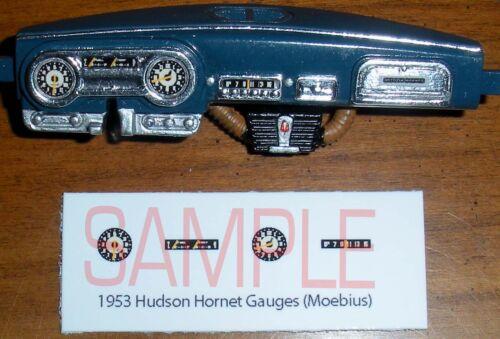 1952-1953 HUDSON HORNET GAUGE FACES for 1//25 scale MOEBIUS KITS