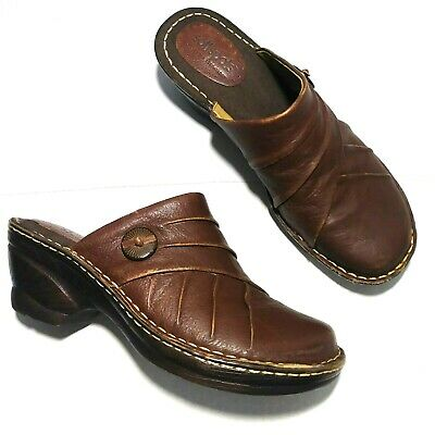 SOFTSPOTS Womens Mules Clogs 9.5M Brown