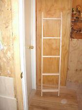 """5' blanket ladder, wooden ladder, wood ladder unfinished pine, 60"""" quilt ladder"""