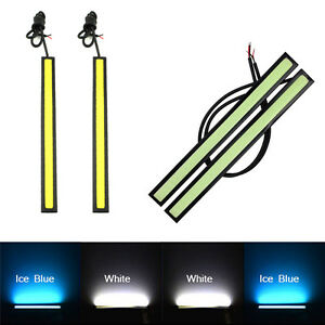 2-Stk-Super-Bright-COB-White-Car-LED-Lights-12V-for-DRL-Fog-Driving-Lampe
