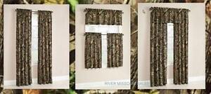 Mossy Oak Break-Up Infinity Window Curtain Panels,Set of 2 or Valance-Choice-NEW