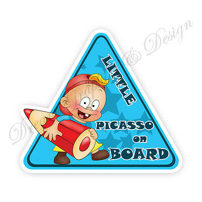 Baby on Board Child Full Color Adhesive Vinyl Sticker Window Car Bumper #076