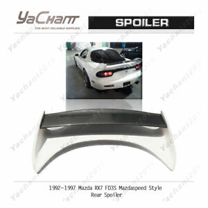 Details about Carbon Wing Blade w/ FRP Base For 92-97 Mazda RX7 FD3S  Mazdaspeed Rear Spoiler