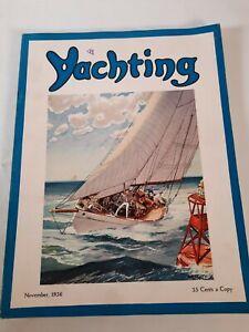 Vintage November 1936 Yachting magazine .Boating advertisements
