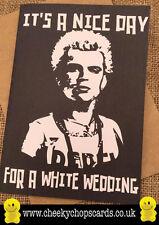 Funny Rude Cheeky Chops Cards - Wedding/Retro Billy Idol White wedding - JS302