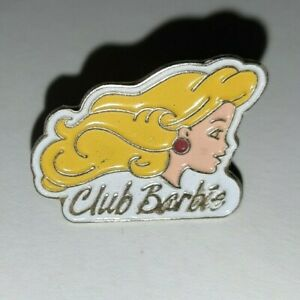 Jolis-pin-039-s-ancien-Club-Barbie-buste-de-barbie