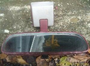 Red-REAR-VIEW-MIRROR-amp-Bulb-Cover-84-88-Toyota-Pickup-89-4Runner-OEM-136K-sun