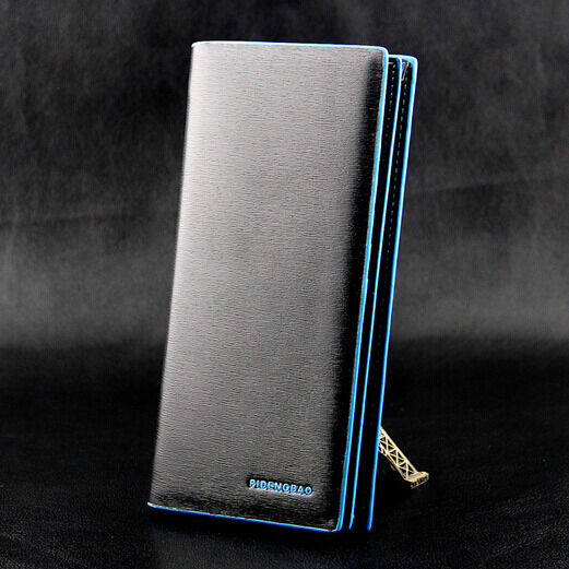 Business Men's Leather Wallets Bifold Long Clutch Credit Card Coin Holder Wallet