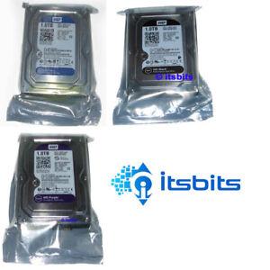 WESTERN DIGITAL 3.5 INTERNAL SATA HARD DRIVE 1TB 2TB 3, 4, 6TB BLUE PURPLE BLACK