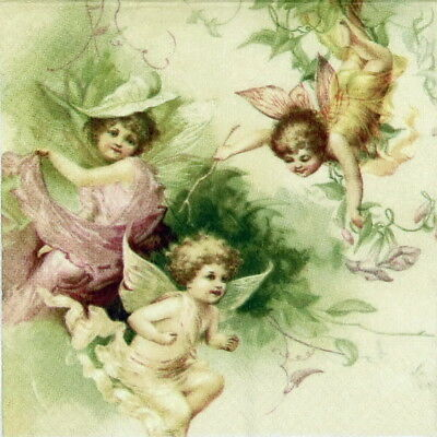 4x Paper Napkins for Decoupage Decopatch Craft Sagen Christmas Angels