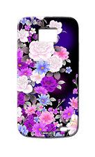 COVER CASE PROTETTIVA PURPLE FLOWERS PER SAMSUNG GALAXY S2 PLUS i9105