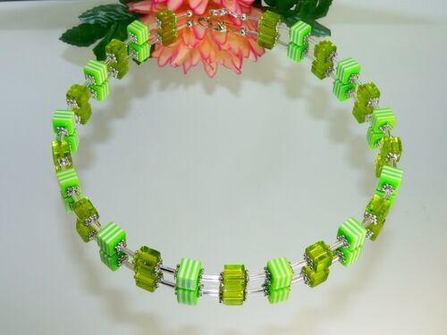 Cadena elegantes vidrio resin cadena de cubo verde Lemon blanco de nuevas tendencias 120e