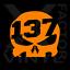 Set of 2 Punisher Skull number plate dicut vinyl decals for ATV UTV Motorcross
