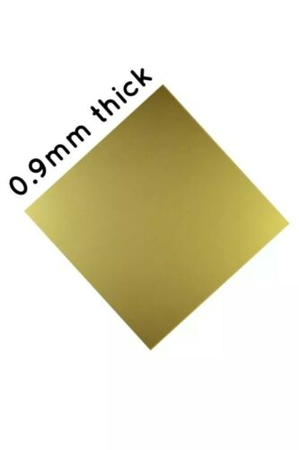 0.9mm POLISHED BRASS SHEET various sizes