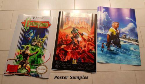 RGC Huge Poster FNE002 Final Fantasy Original NES BOX ART