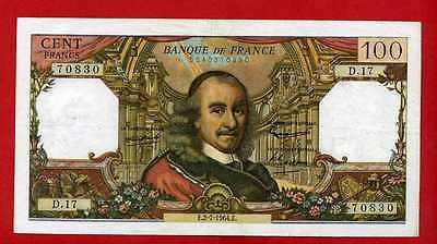 (ref: D.17) 100 Francs Corneille 2/07/1964 (ttb)