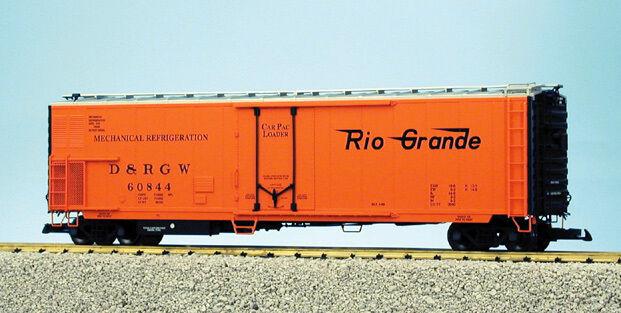 USA Trains G Escala 50' mechnanical hierba R16721 Rio Grande-Amarillo/Negro