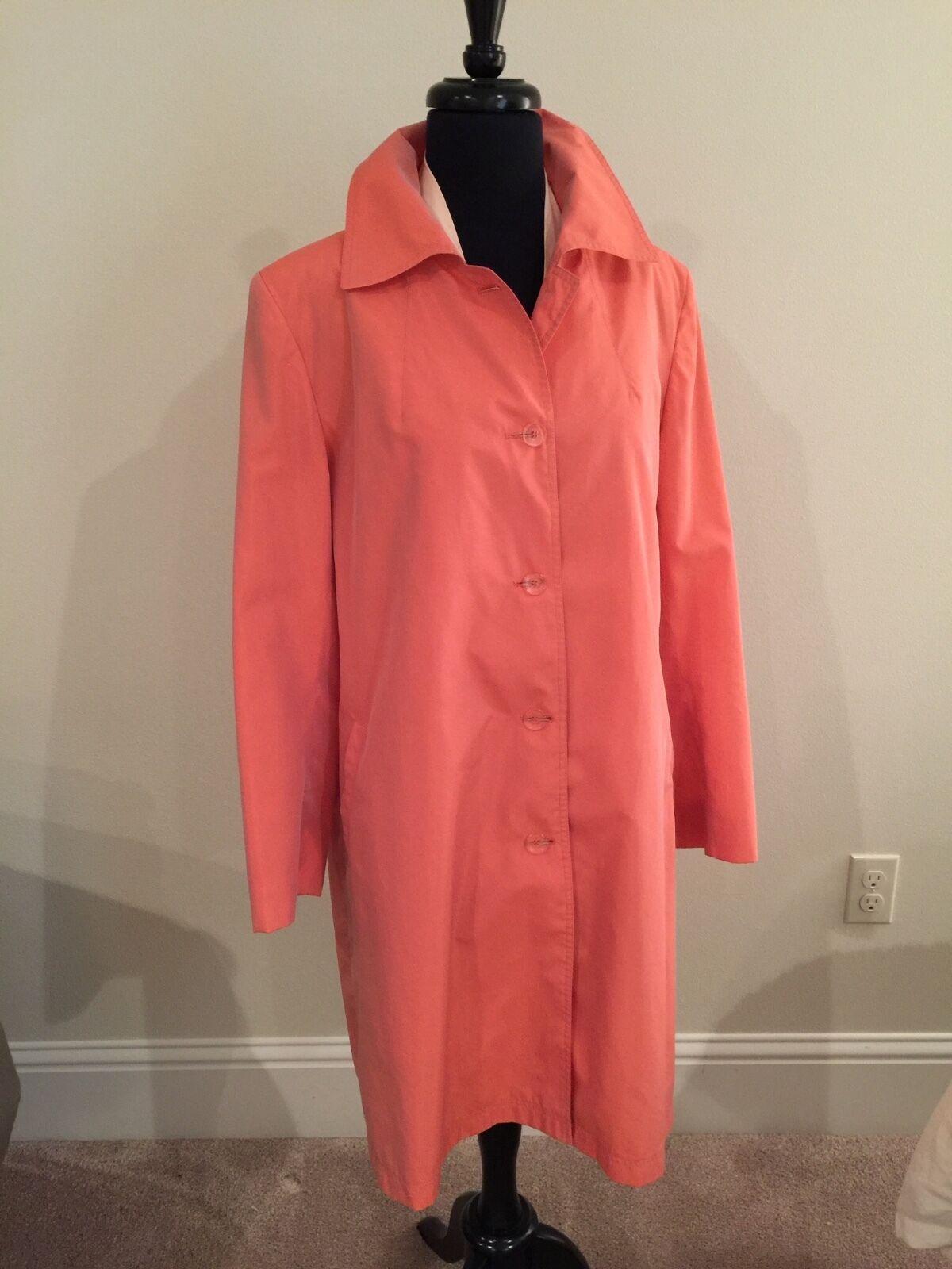 NEUF sans étiquette 1000   Zenobia Silk trench coat de SAKS 5th AV SZ 12 Bonus haut sans hommeches