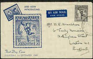 1949-AUSTRALIA-1-6-Hermes-Wmk-FDC