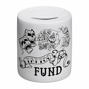 Tattoo-Fund-Novelty-Ceramic-Money-Box